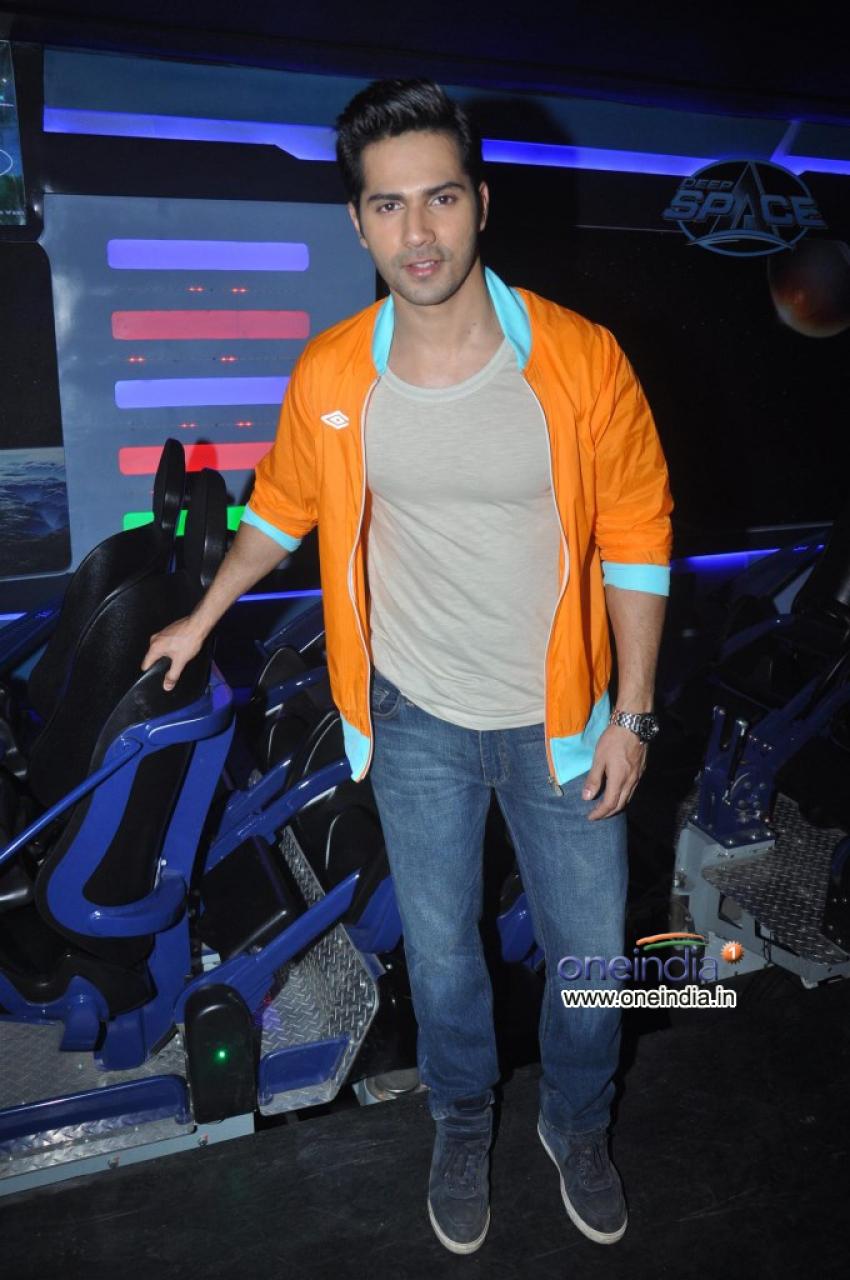 Varun Dhawan Launch Dark Roller Coaster Ride At A Theme Park Photos