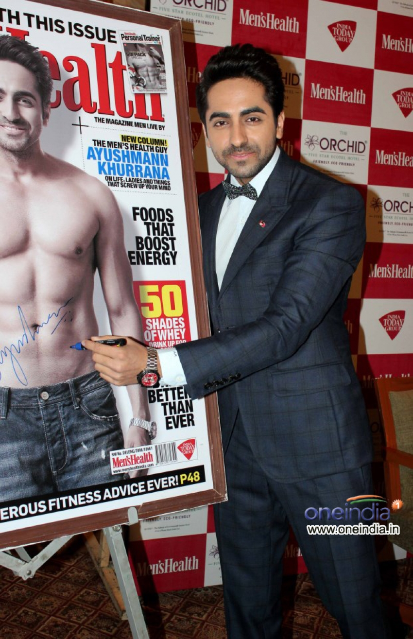 Ayushmann Khurrana launch Men's Health Magazine July cover Photos