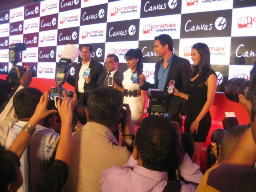 Micromax Launches Canvas 4 Smartphone Photos