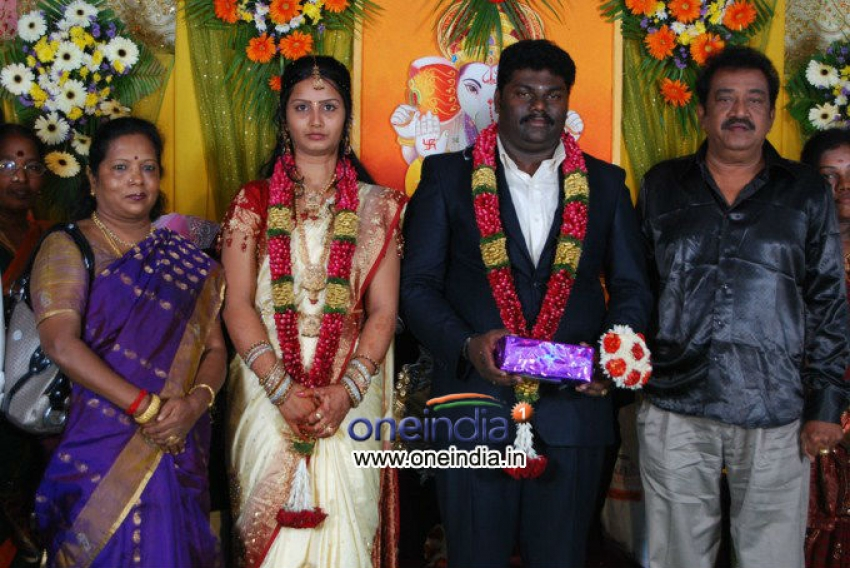 Comedy Actor Kottai Perumal Son Wedding Reception Photos