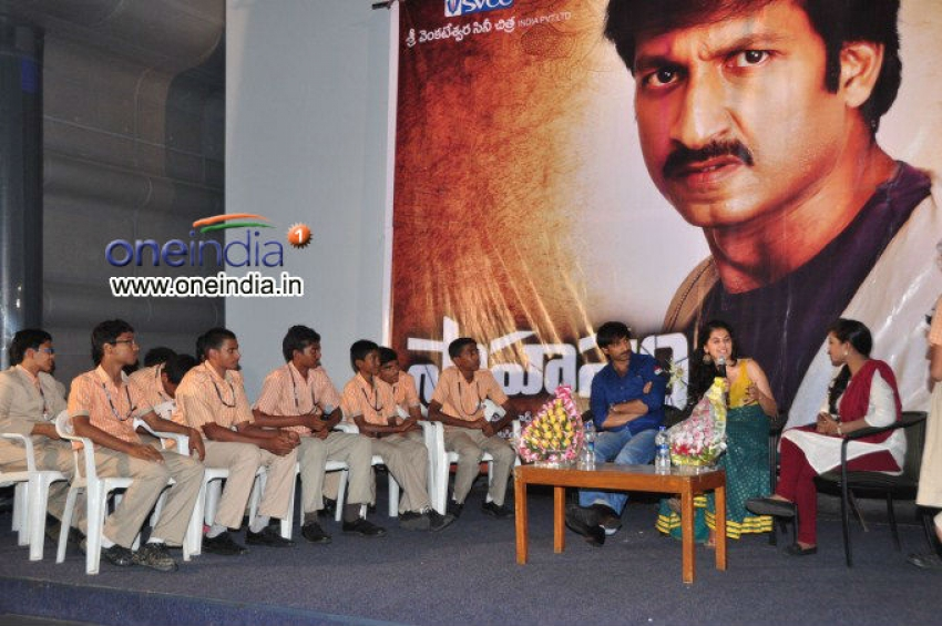 Gopichand and Tapasee Pannu at Sahasam Show to School Students Photos