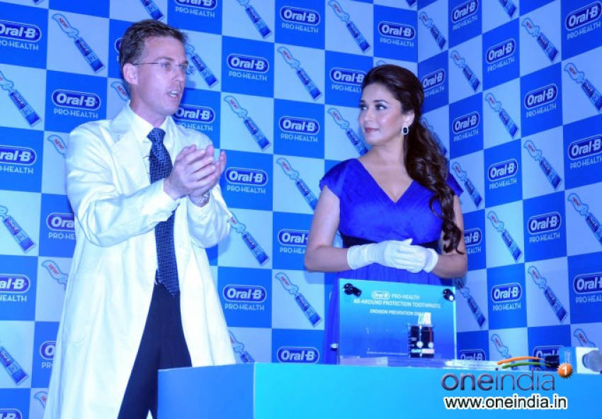 Madhuri Dixit launches Oral-B Pro Health toothpaste Photos