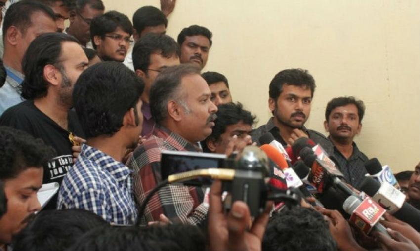 Biriyani Movie Team at CBCID Office Photos