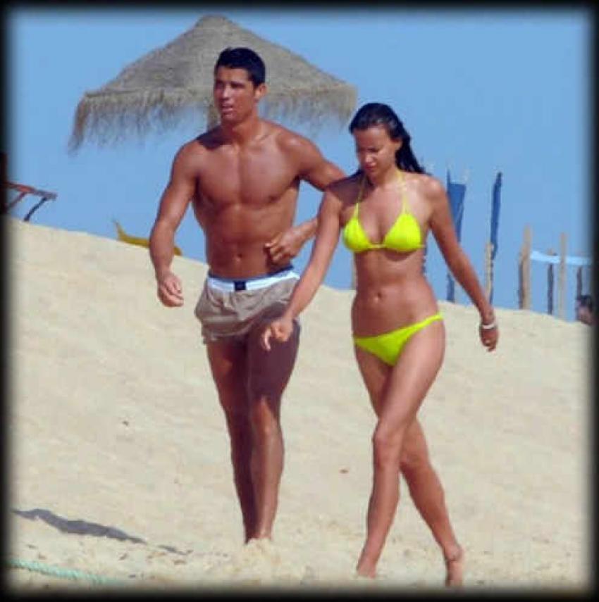 Candid Moments of Cristiano Ronaldo with Girlfriend Irina Shayk Photos