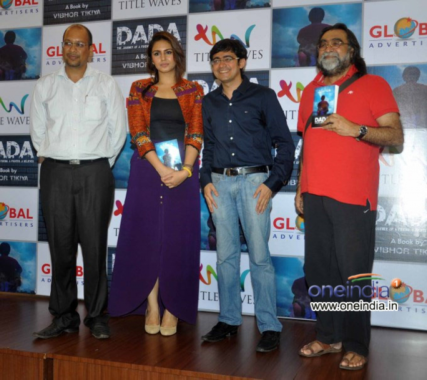 Huma Qureshi unveils Vibhor Tikiya's book DADA Photos