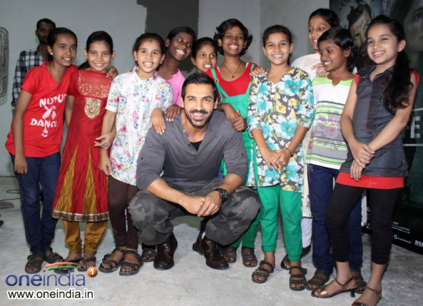 John Abraham snapped promoting Madras Cafe Photos