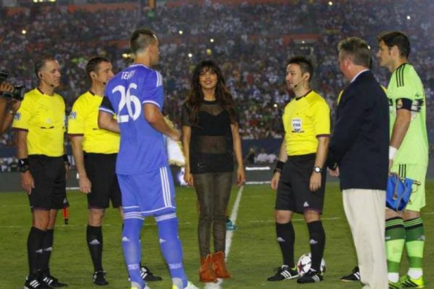 Priyanka Chopra at International Champions Cup 2013 Photos