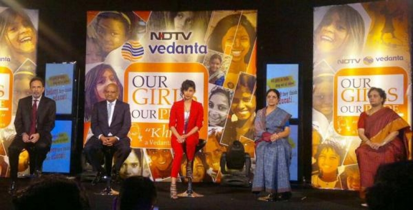 Priyanka Chopra launches NDTV-Vedanta Our Girl Our Pride campaign Photos