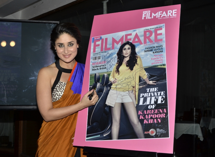 Kareena Kapoor Launch Filmfare September Issue 2013 Photos