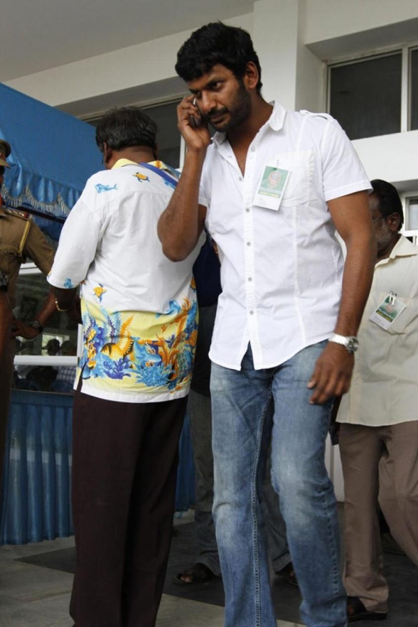 Kollywood Celebs at Nadigar Sangam Press Meet Photos