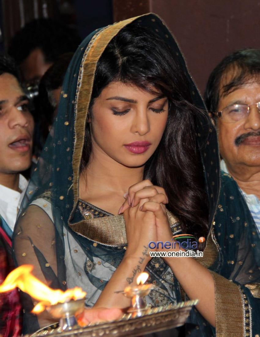 Priyanka Chopra visits Andheri Cha Raja Photos
