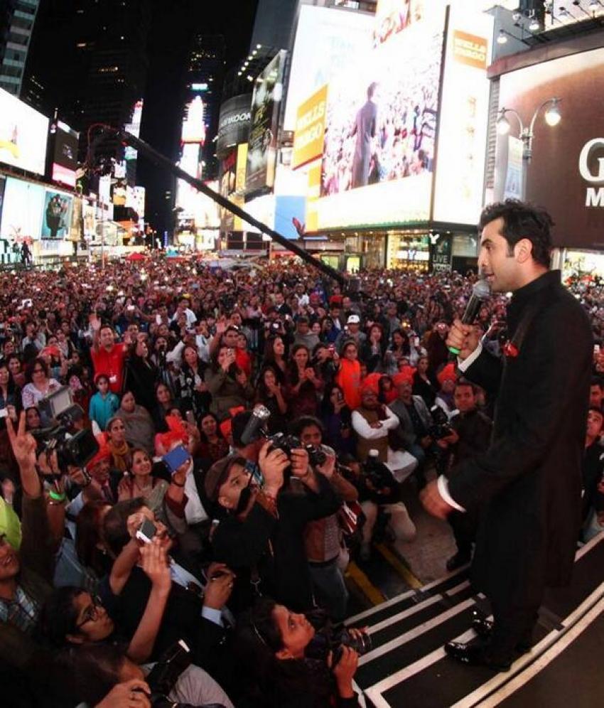 Besharam film promotion at New York Photos