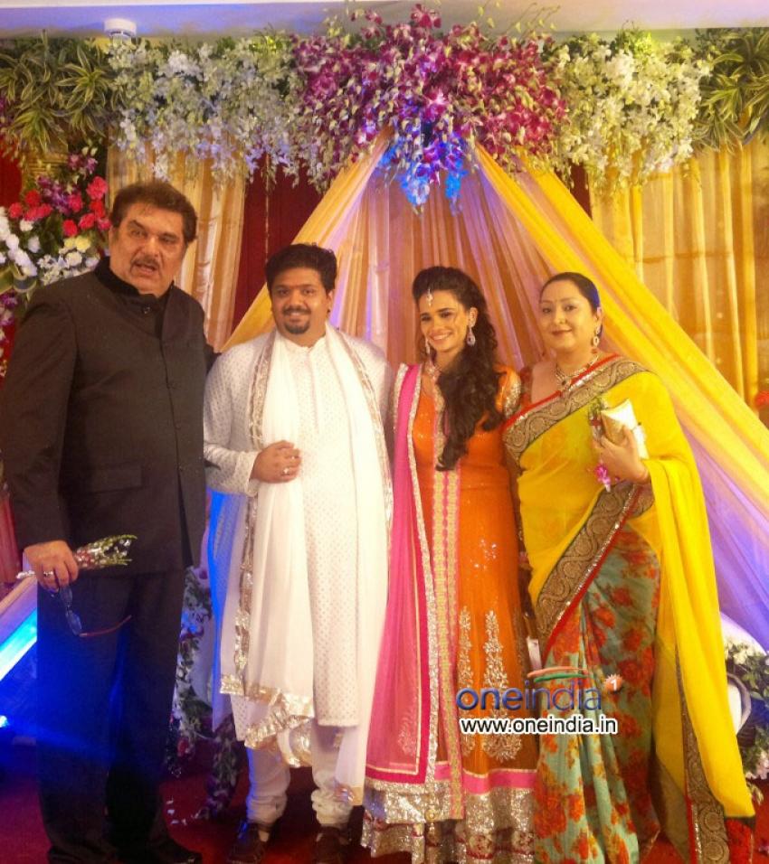Rahul Thackeray and Aditi Redkar Engagement Celebrations Photos