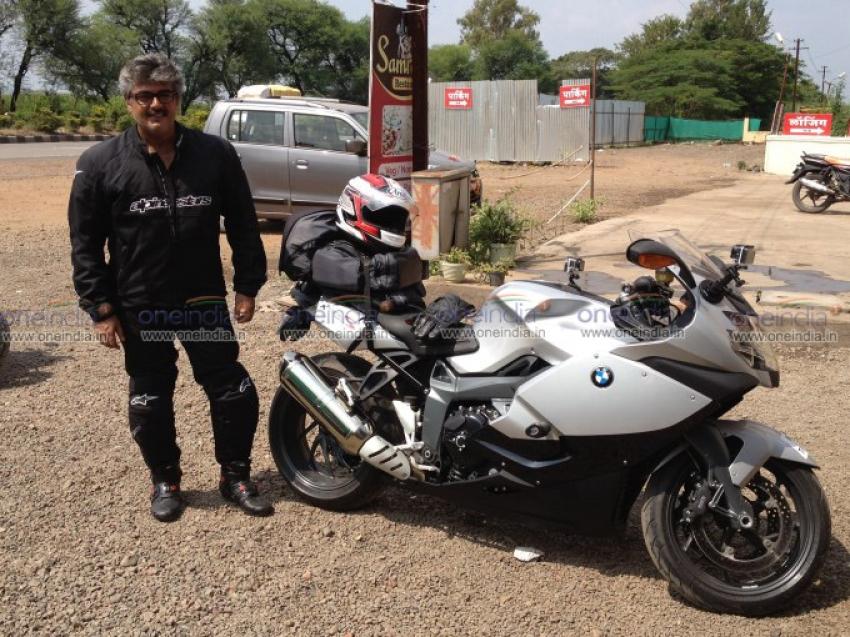 Ajith Kumar trip from Pune to Chennai in BMW K 1300 S bike Photos