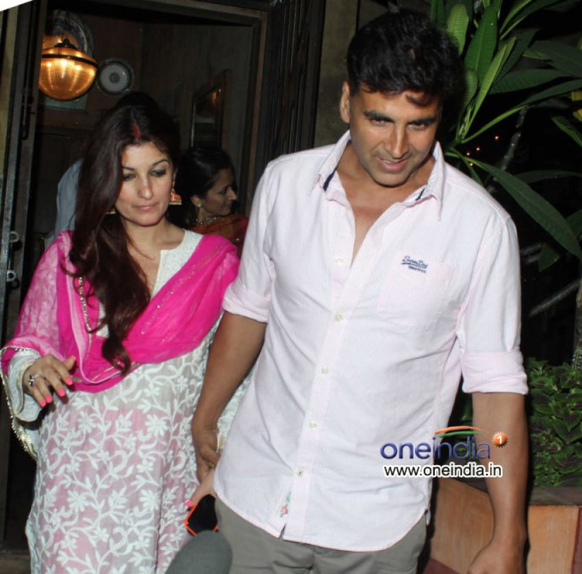 Akshay Kumar and Twinkle Khanna celebrates Karva Chauth Photos