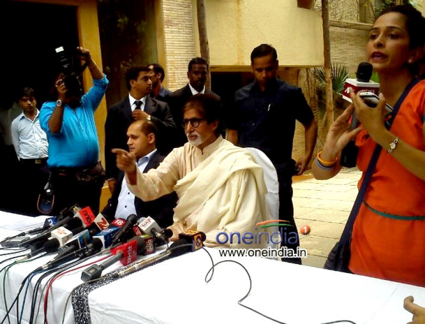 Amitabh Bachchan 71st Birthday Press Conference Photos