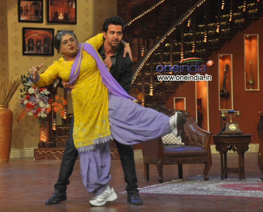 Hrithik Roshan on the Sets of Comedy Nights with Kapil Photos