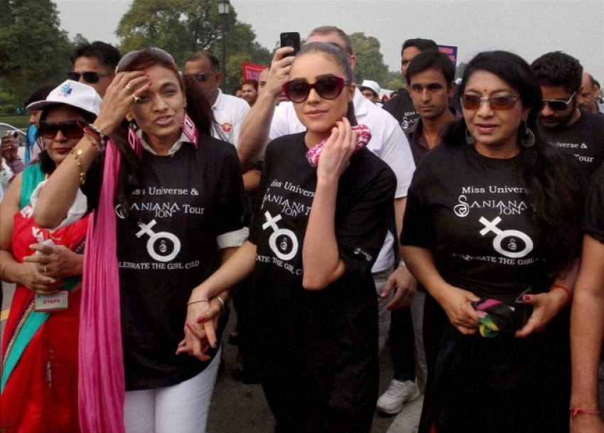 Miss Universe Olivia Culpo's India tour Photos