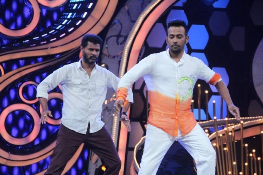 R... Rajkumar film stars on Dance India Dance show sets Photos