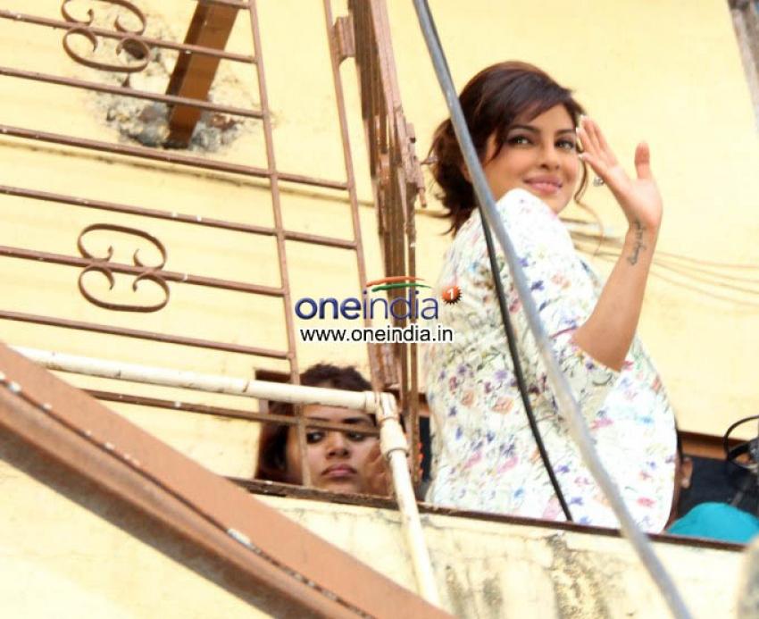 Priyanka Chopra Visits Holy Mother School to Support International Girl Child Day Photos