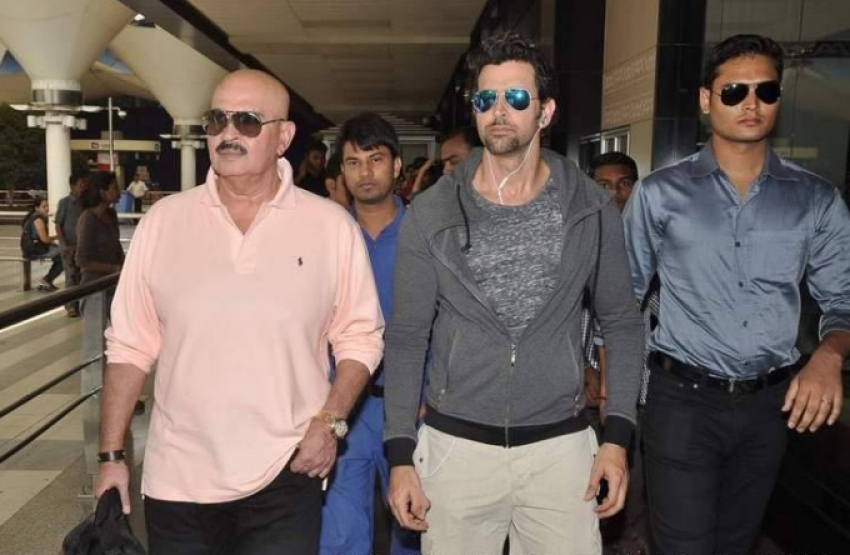 Krrish 3 film stars return from Dubai Photos