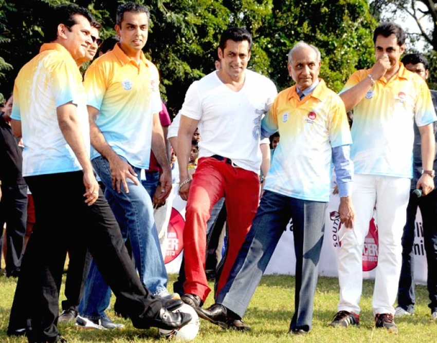 Salman Khan Charity Football Match for Milind Deora  & Aditya Mittal Photos