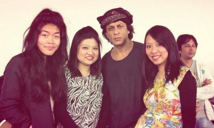 Shahrukh Khan, Madhuri Dixit and Rani Mukherji rehearsals for Temptation Reloaded 2013 Photos