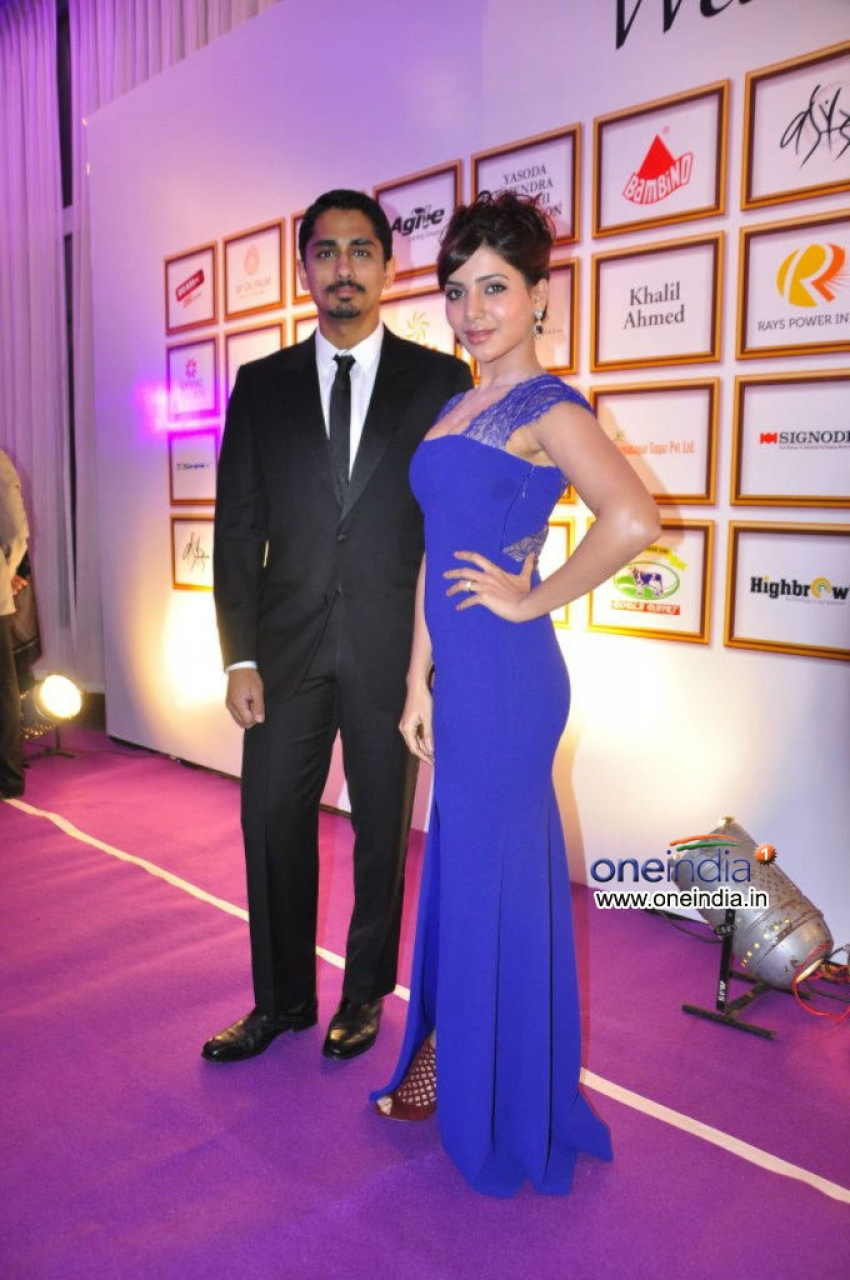 Siddharth and Samantha at Food for Change Charity Show Photos
