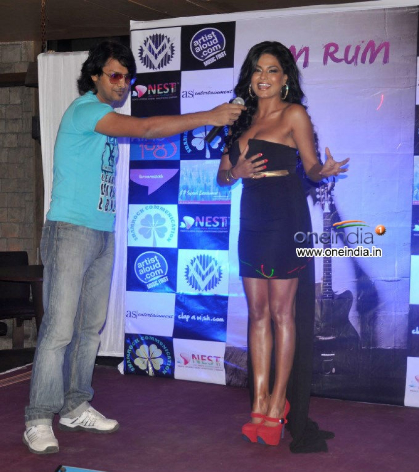 Veena Malik launches music album Rum Rum Photos