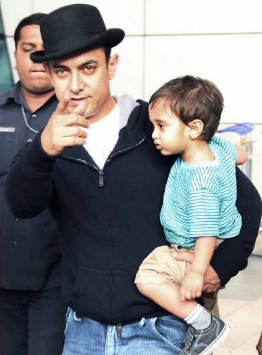 Aamir Khan takes his son Azad Rao for a stroll Photos