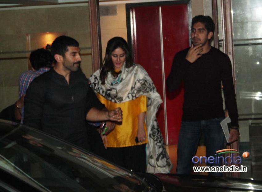 Ranbir Kapoor, Katrina Kaif & Kareena Kapoor snapped at Karan Johar's house Photos
