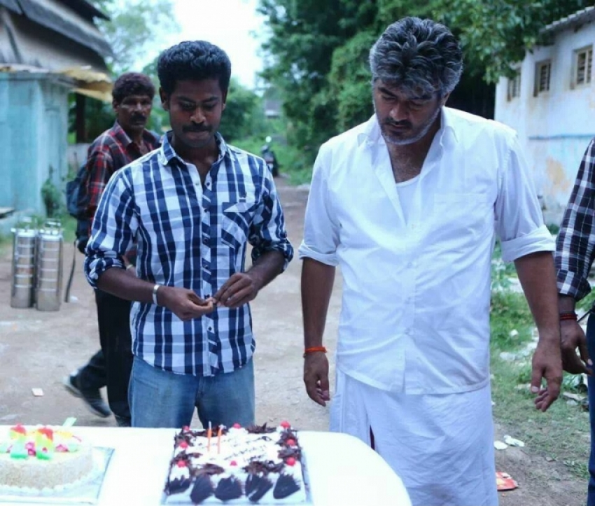 Veeram film shoot spot Assist director birthday celebration Photos