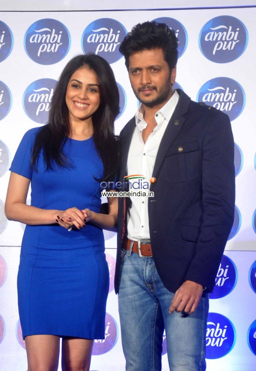 Genelia D'Souza and Riteish Deshmukh launch Refresh your Love campaign Photos