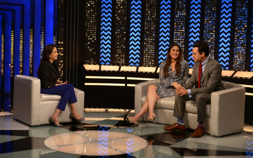 Gori Tere Pyaar Mein film promotion on the sets of The Front Row Photos