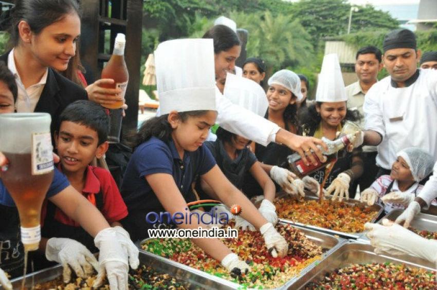 Mahesh Babu's son Gautham Krishna at Cake Mixing Photos