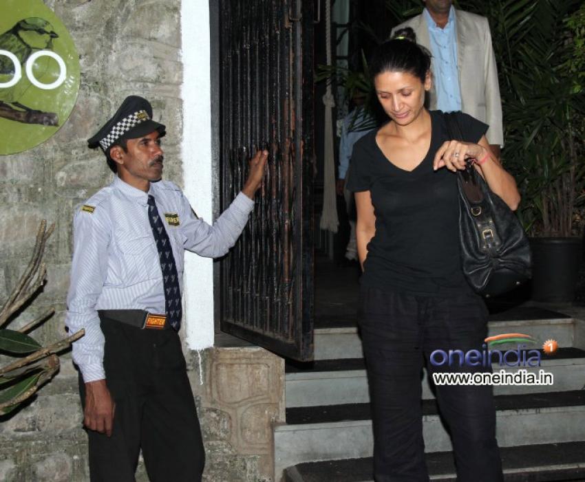 Arjun Rampal with his wife snapped at NIDO Bandra Photos