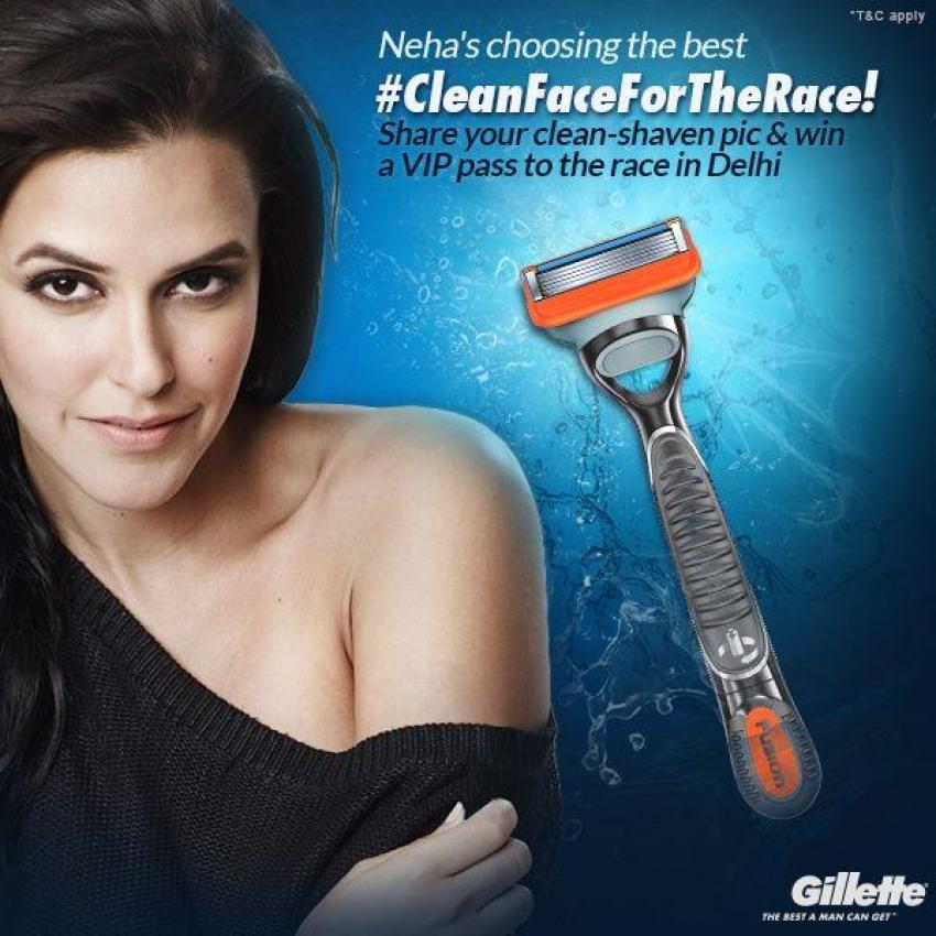 Neha Dhupia and Chitrangda Singh's print ads for Gillette Venus Razor Photos