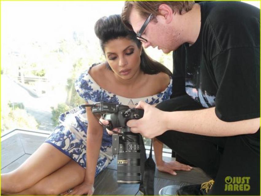 Behind the Scenes Pics from Priyanka Chopra's Just Jared shoot Photos
