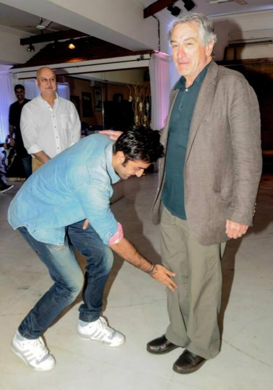 Ranbir Kapoor and Priyanka Chopra with Robert De Niro Photos