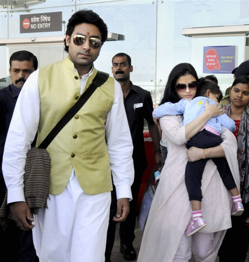 Bachchan family snapped at Bhopal airport Photos