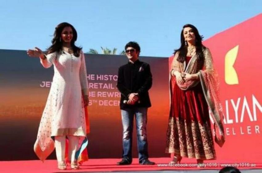 Aishwarya Rai and Manju Warrier at Inaugration of Dubai Kalyan Jewellers Photos