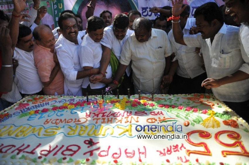 H. D. Kumaraswamy Celebrates his 55th Birthday Photos