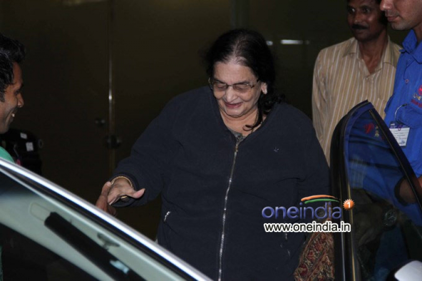 Madhuri Dixit with family snapped at airport Photos