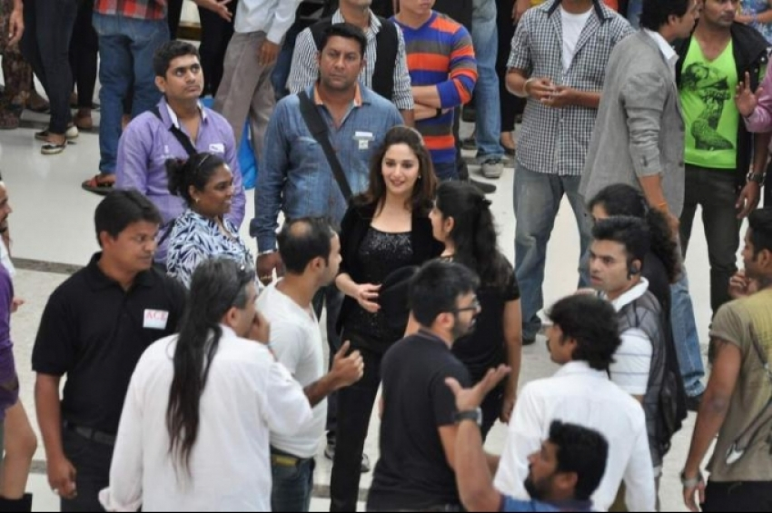 Madhuri Dixit on the sets of Oral-B ad shoot Photos