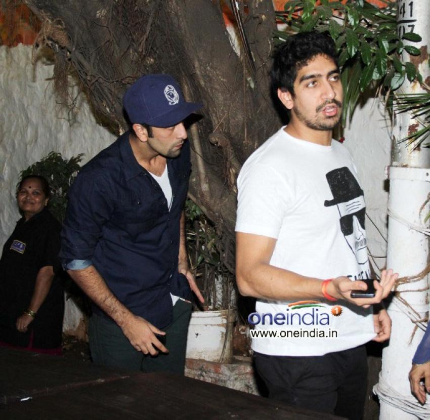 Ranbir Kapoor snapped at Olive Photos