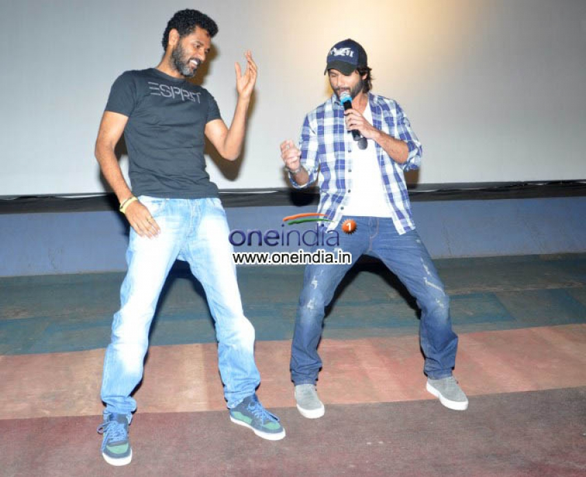 Shahid Kapoor and Prabhudeva visits Chandan Theatre Photos