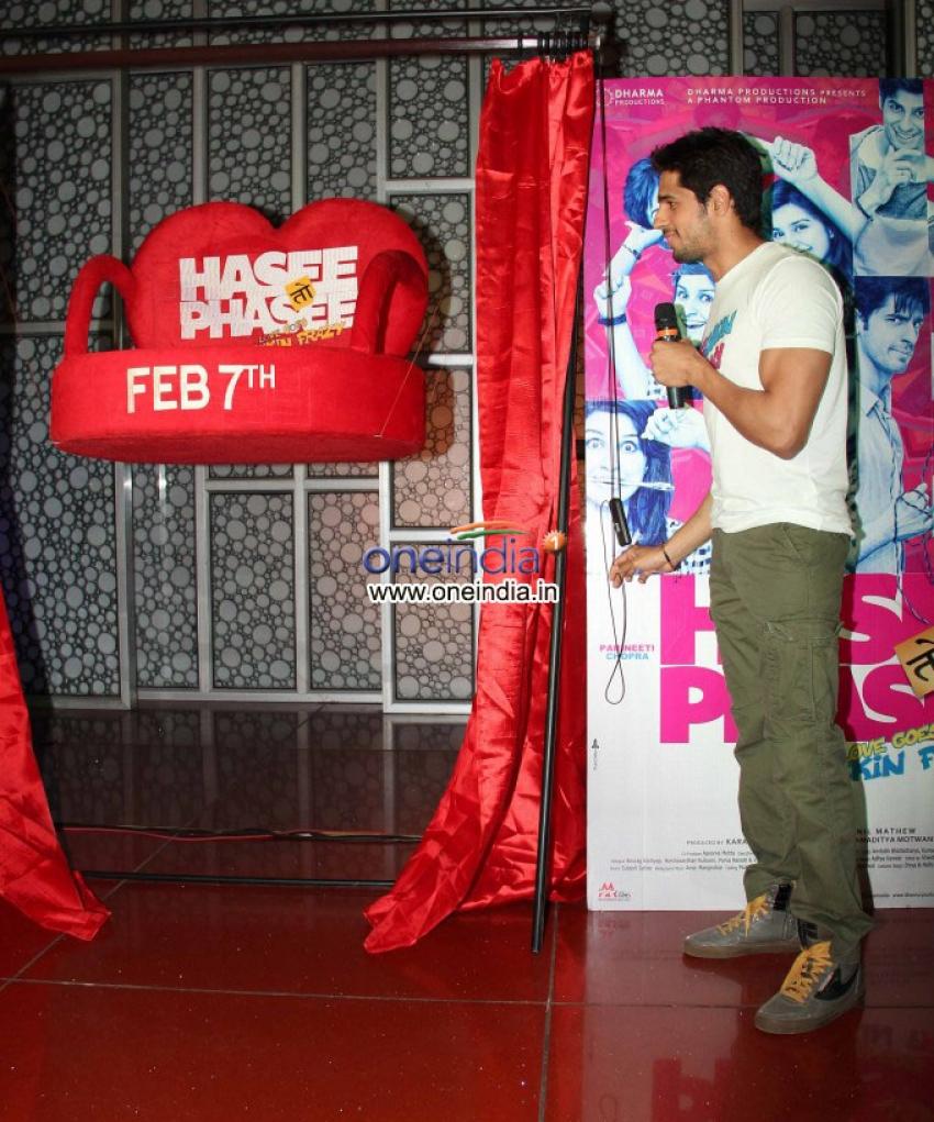 Sidharth Malhotra promotes Hasee Toh Phasee Photos