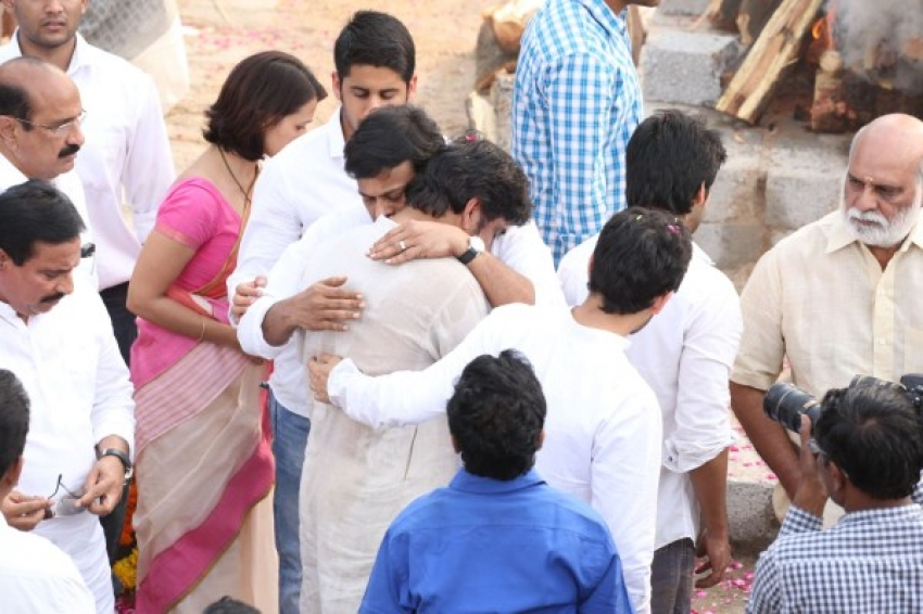 Akkineni Nageswara Rao's Cremation Photos