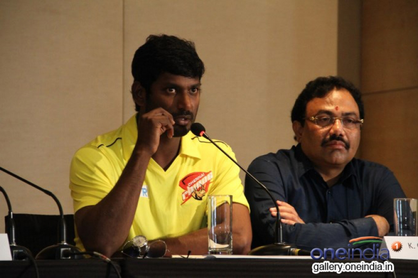 CCL 4: Chennai Rhinos Press Meet Photos