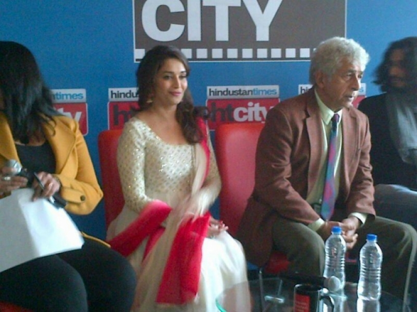 Dedh Ishqiya film promotion at Hindustan Times Photos